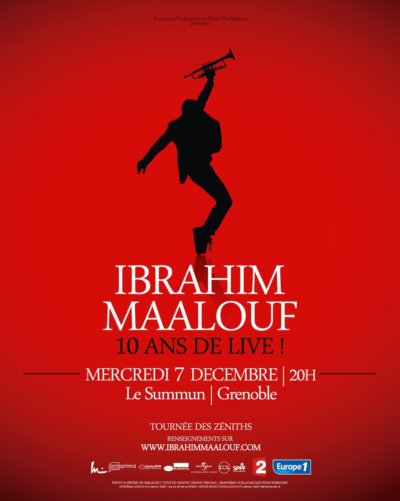 artwork for Ibrahim Maalouf - 10 ans de live !