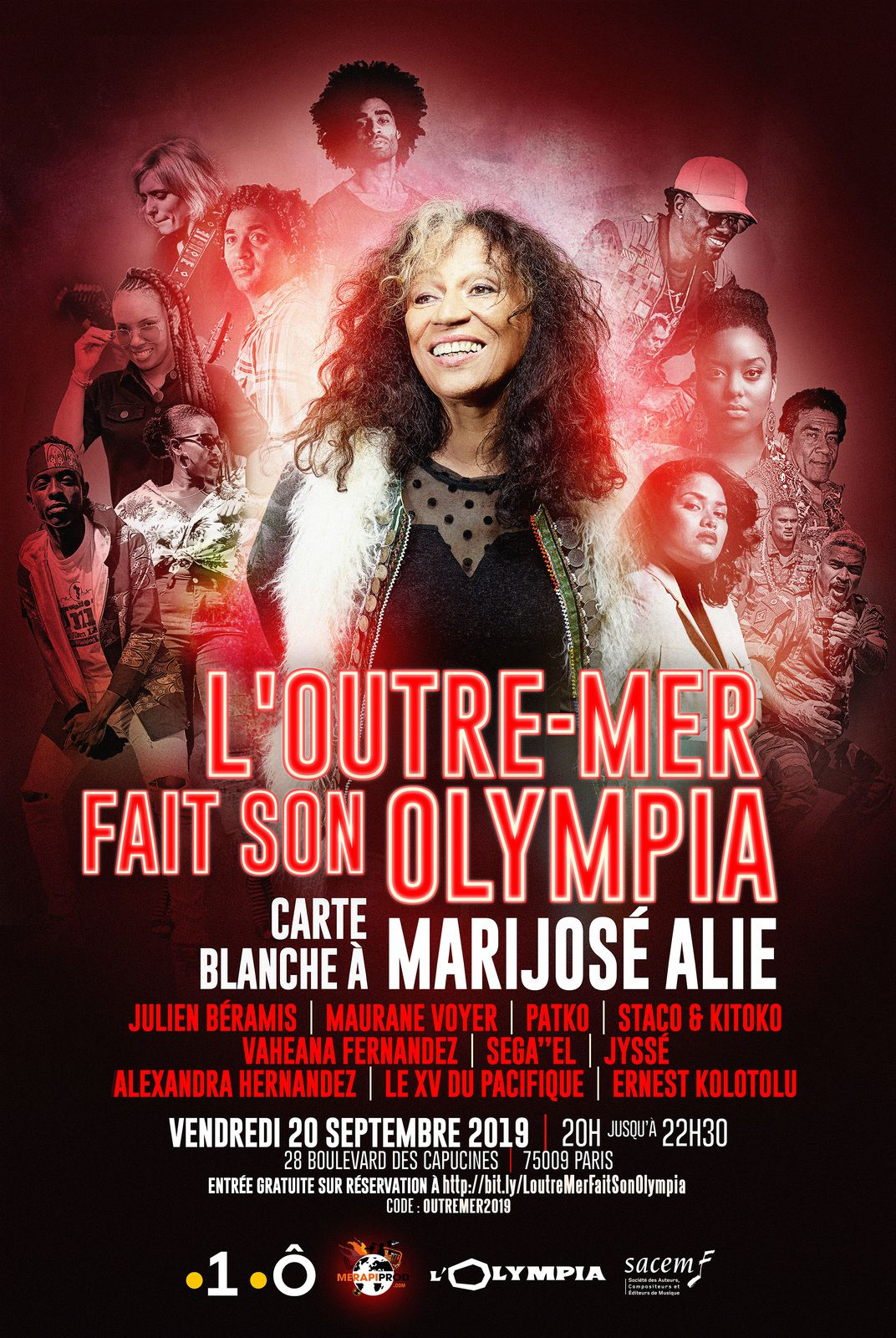 L'outre-mer fait son Olympia - 1ere/France O