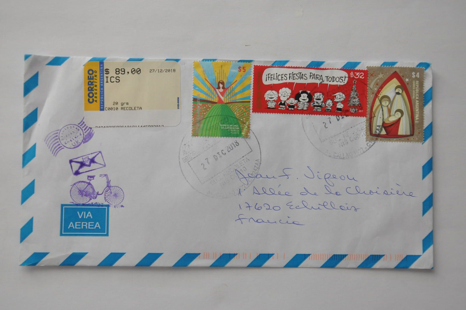 Thank you very much to Maria E.Quiroga from ARGENTINA!