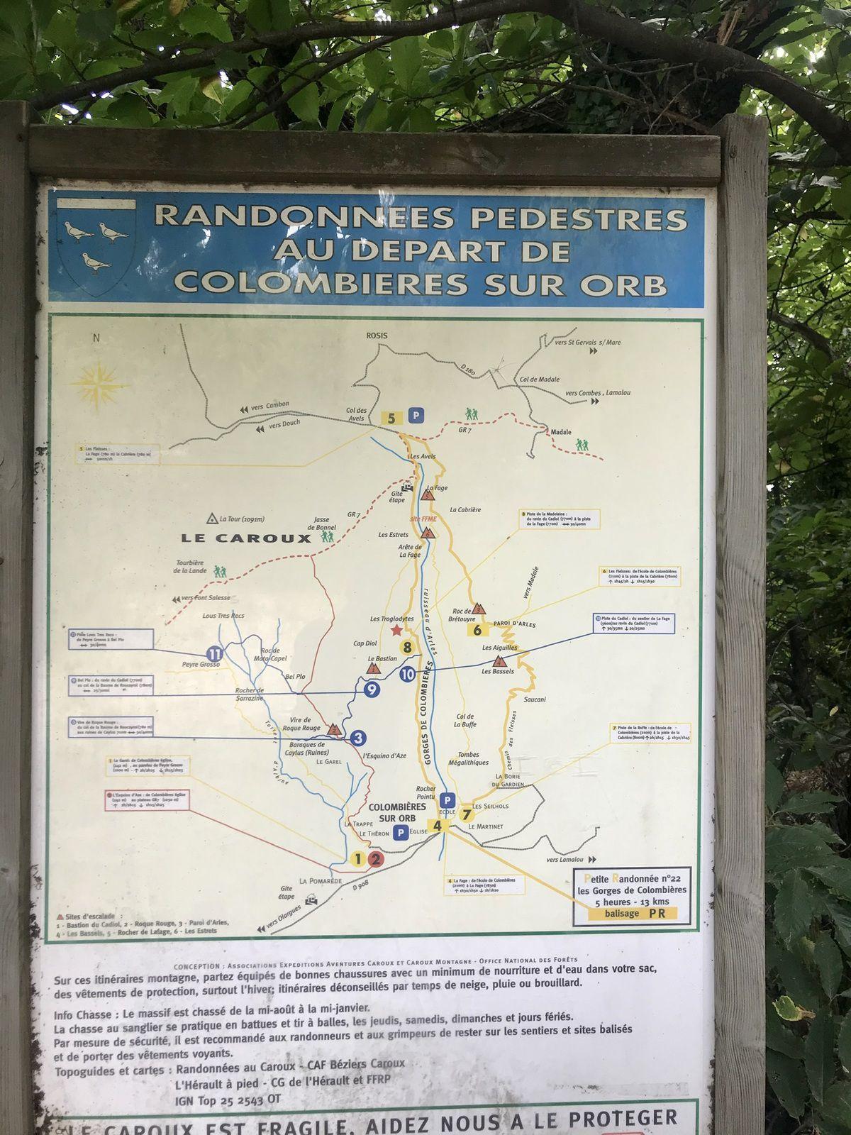 LES GORGES DE COLOMBIÈRES-SUR-ORB.Aout 2020.