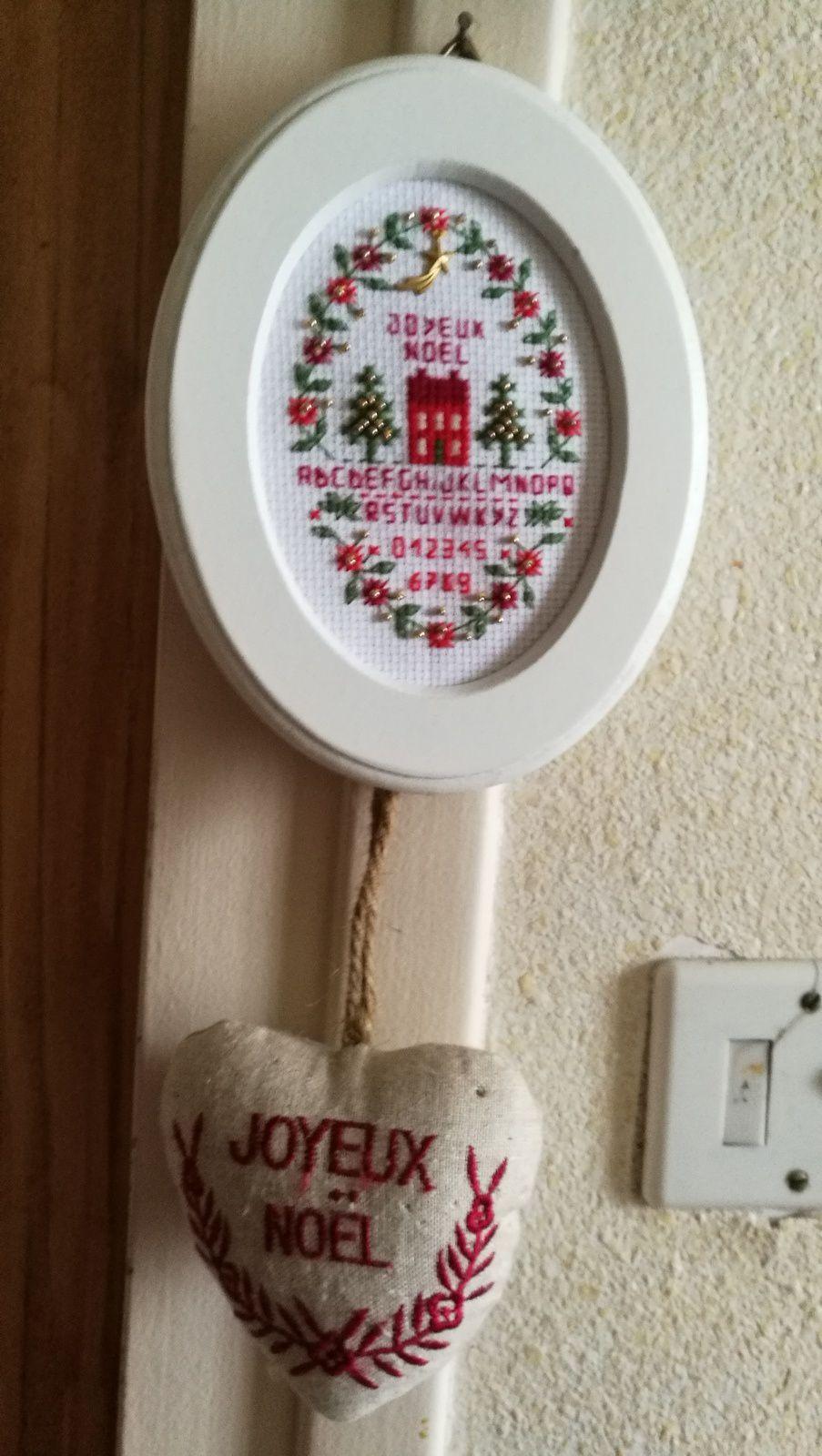 Décoration de ma maison- Broderies de Noël