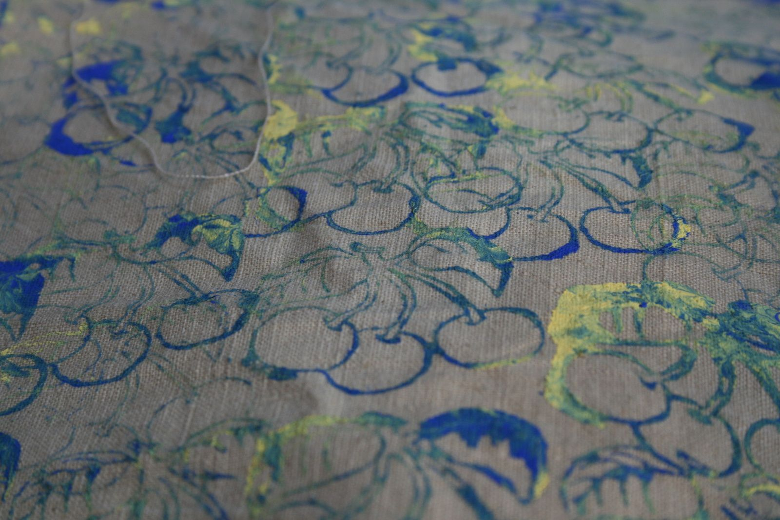 fabrication 'un tote bag ,sac imprime A LA MAIN, DIY- charlotteblabla blog*