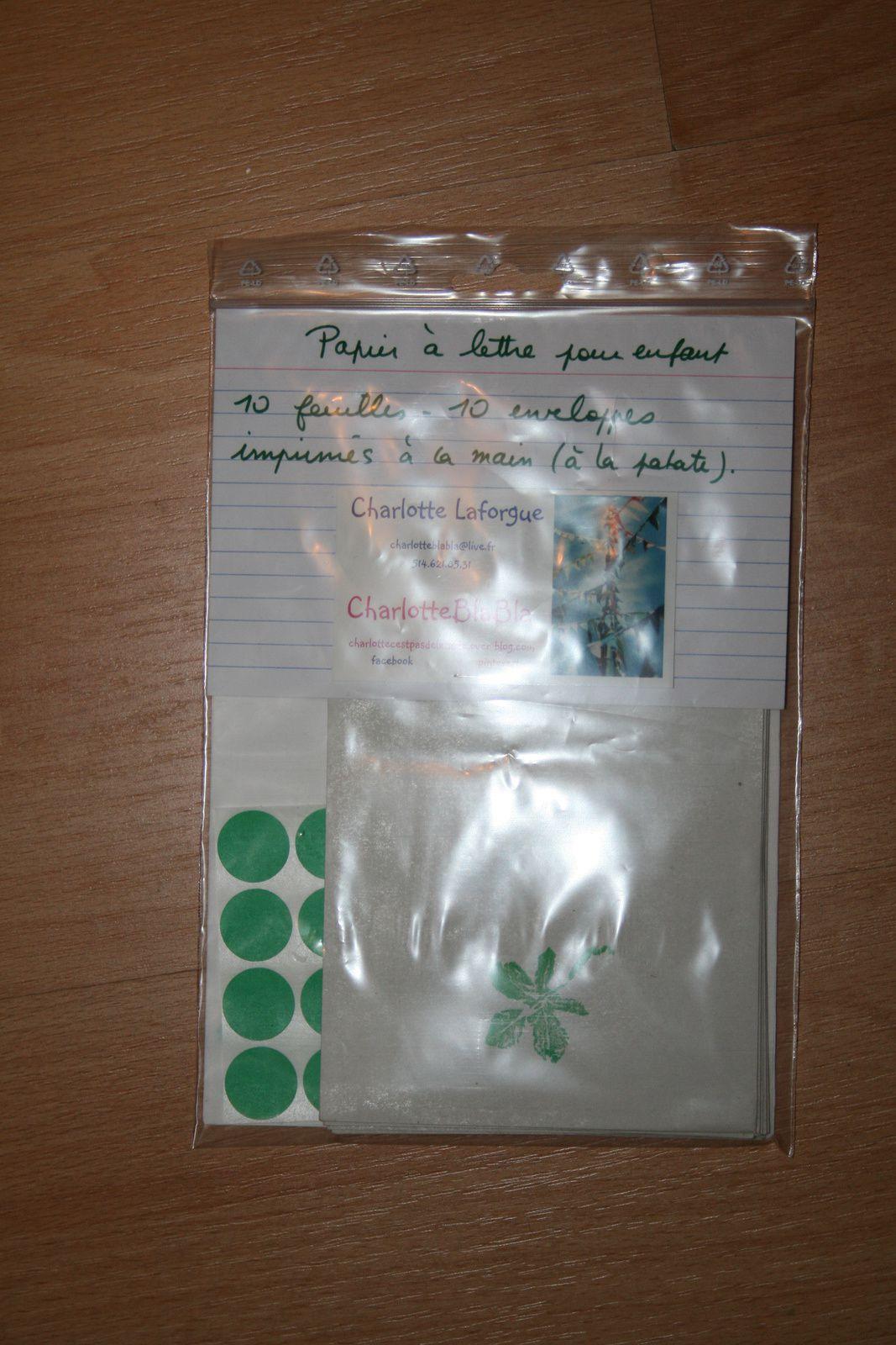 kit de papier à lettre pour enfant : trefle -DIY- CHARLOTTEBLABLA