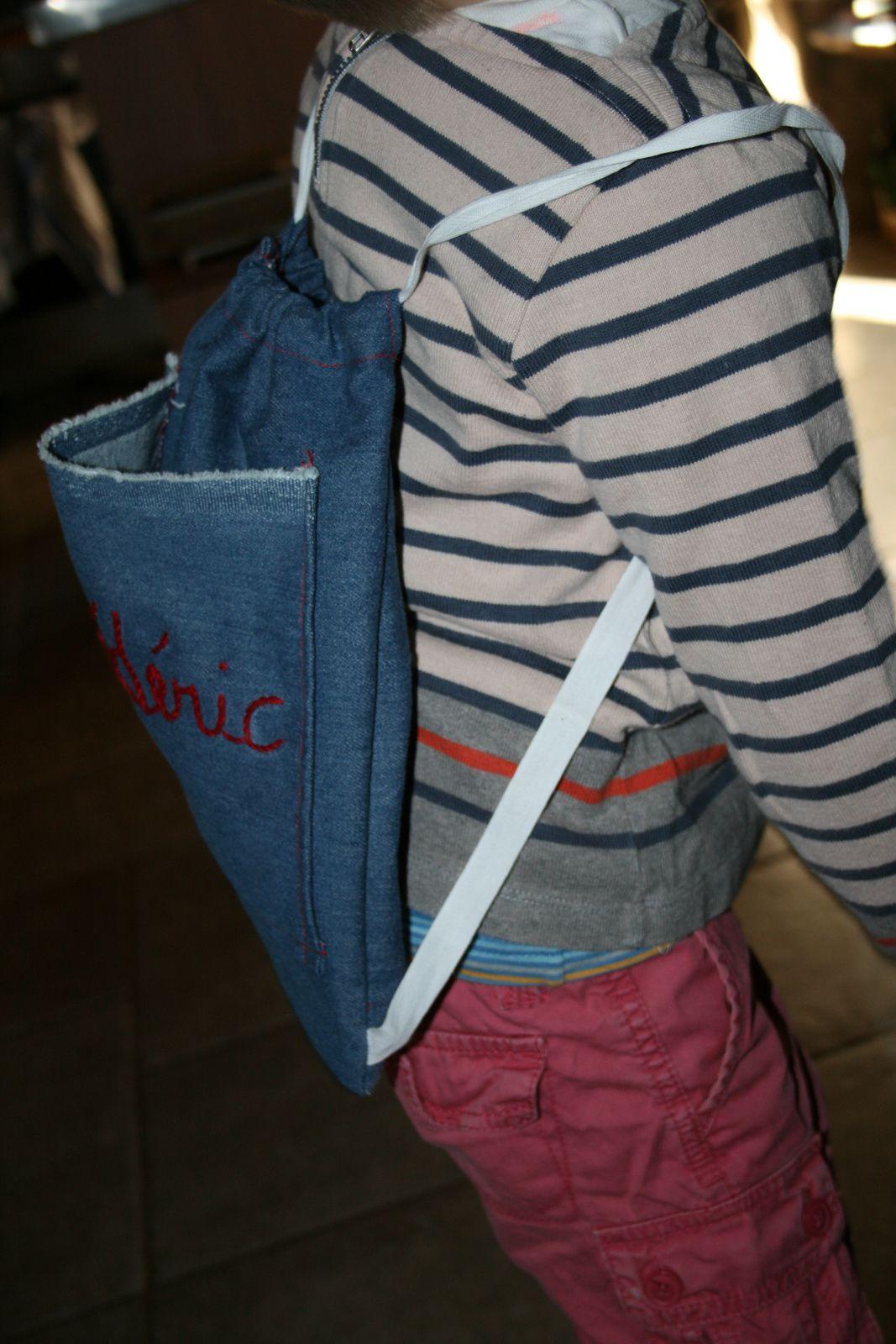 diy sac a dos enfant avec broderie, charlotteblabla blog
