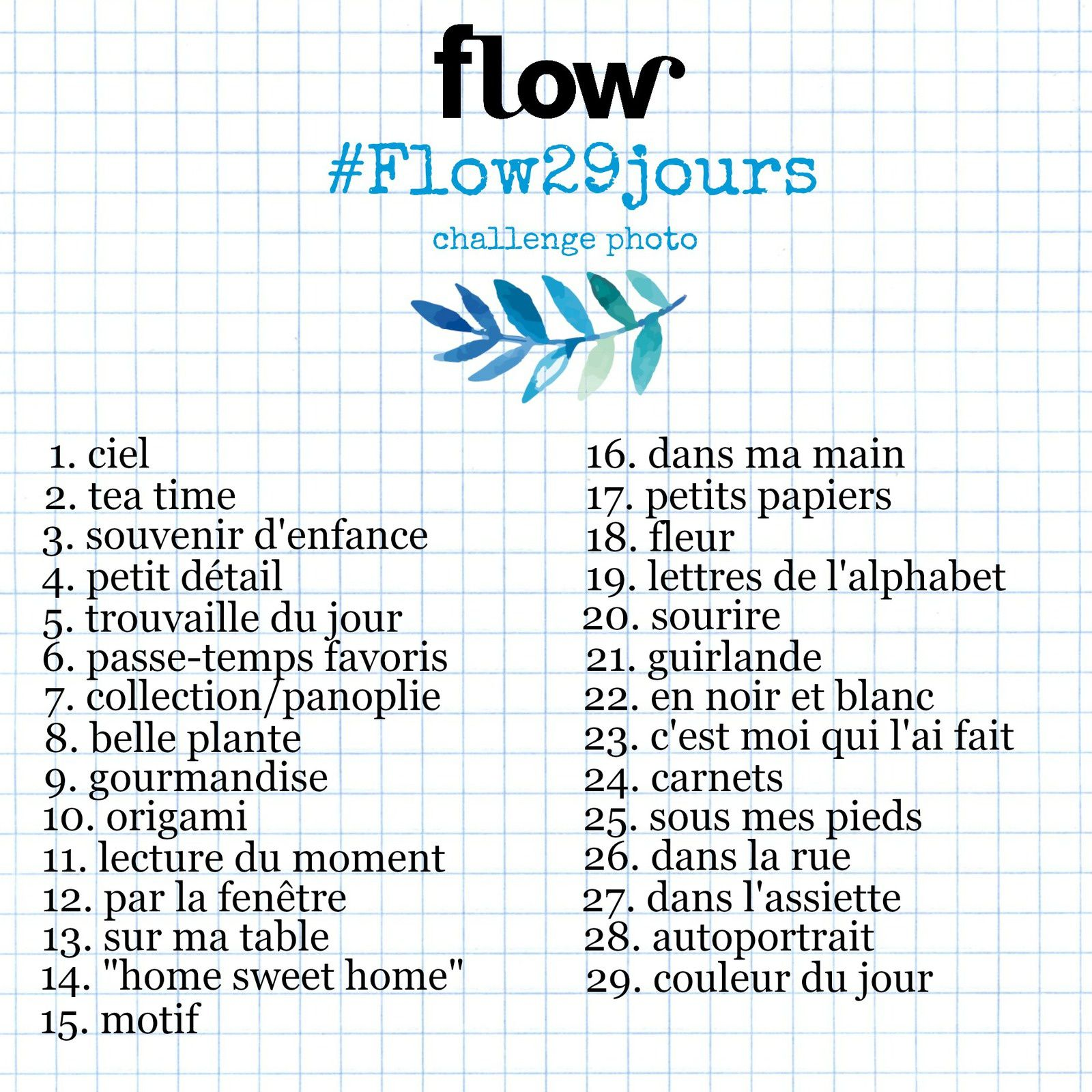 #Flow29jours  7.collection panoplie