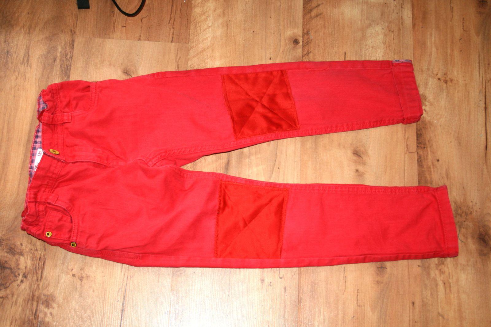 Raccommodage du pantalon enfant couture retouche