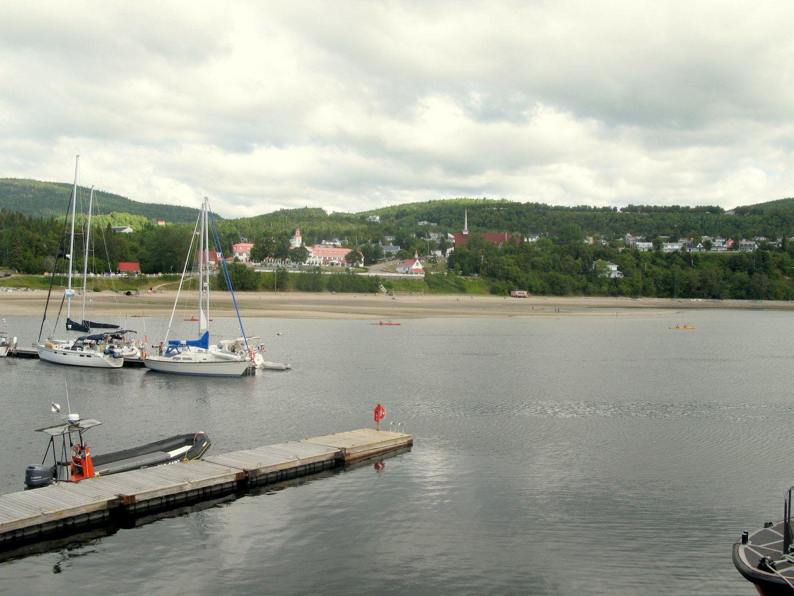 A Tadoussac, la marina