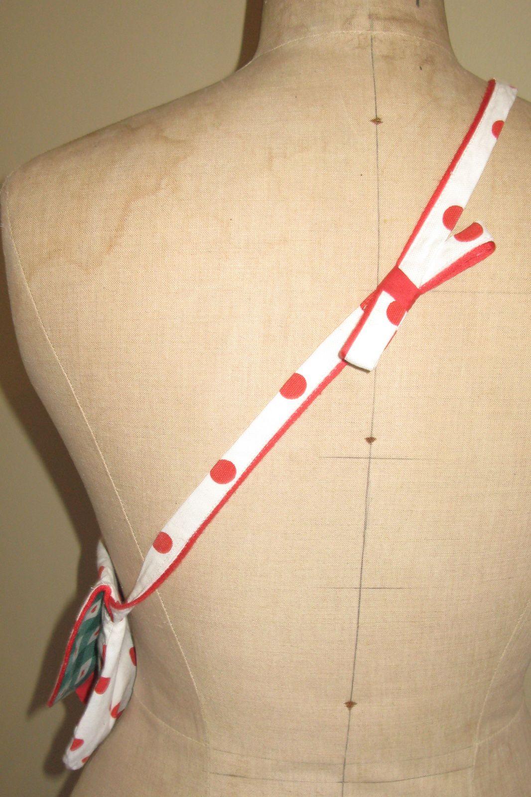 sac a main blanc pois rouge- interieur vichy vert a coeur- creation charlotteblabla