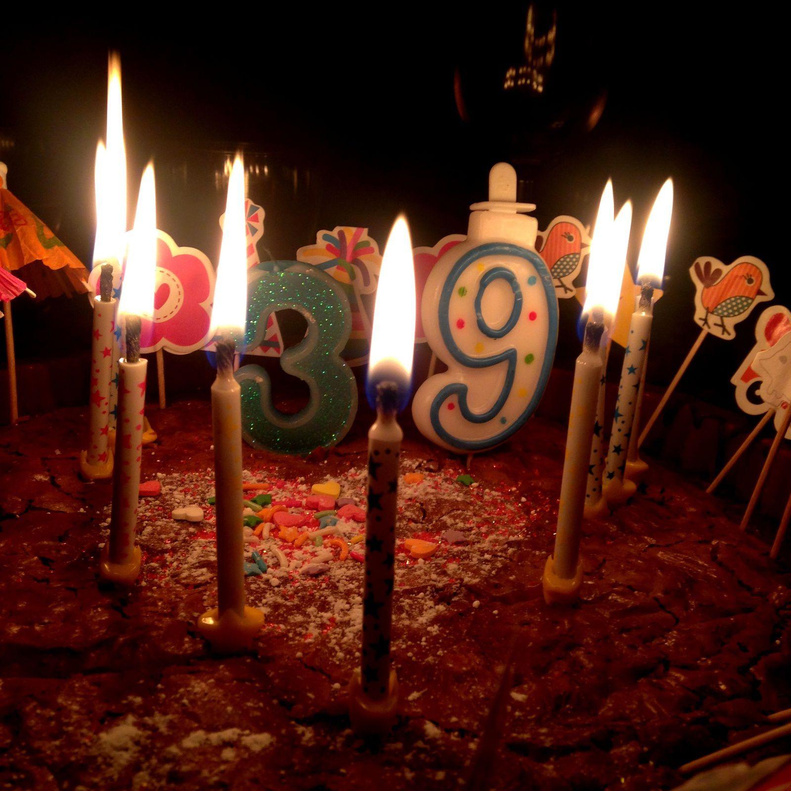 gateau anniversaire - 39 ans- decor enfant- charlotteblabla blog*