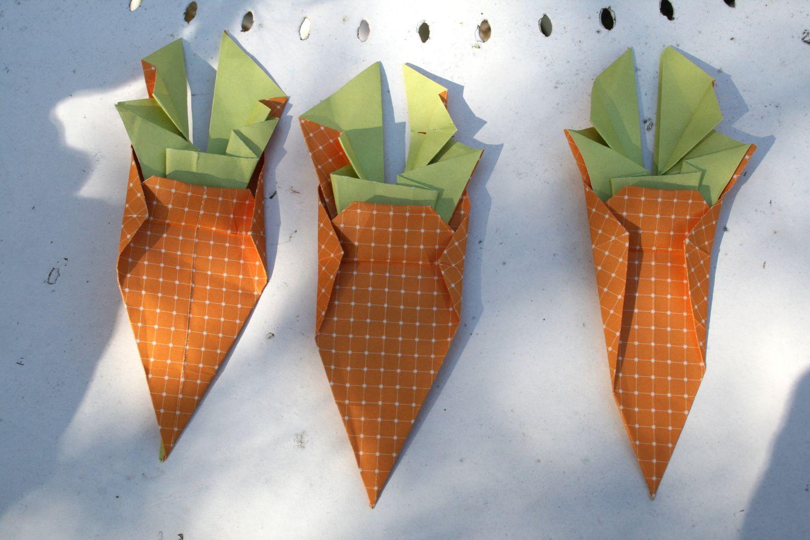 #origamicarotte paques sur charlotteblabla blog
