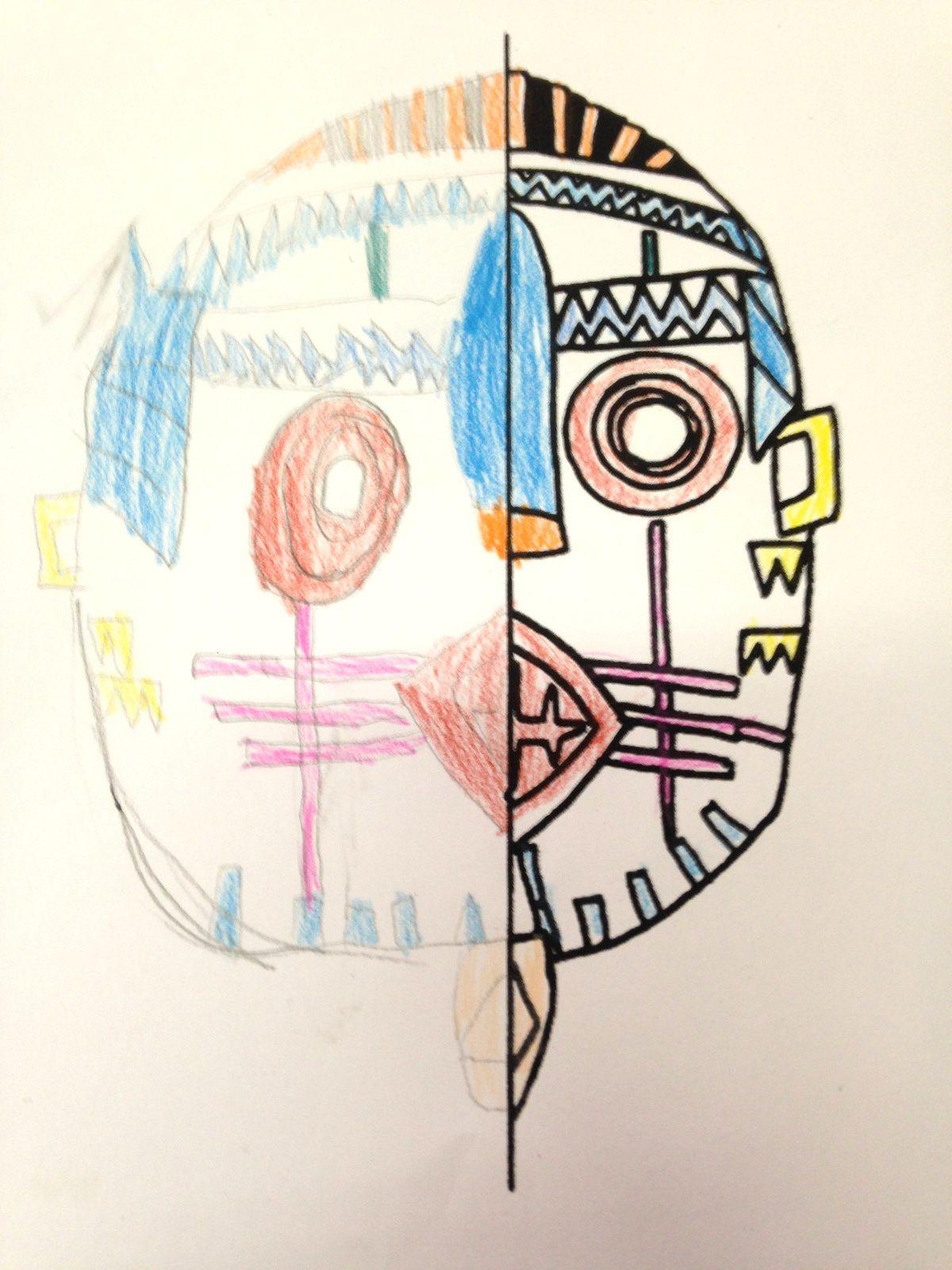 #masque #symétrie #activite  #charlotteblablablog
