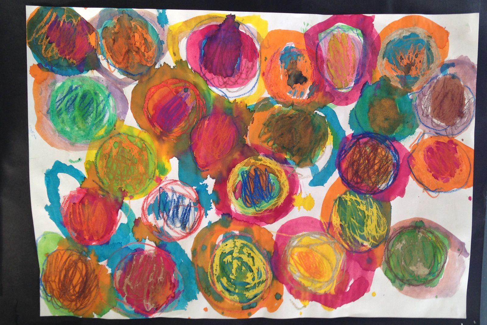 """""""peinture #enfant #rond #charlotteblabla blog"""