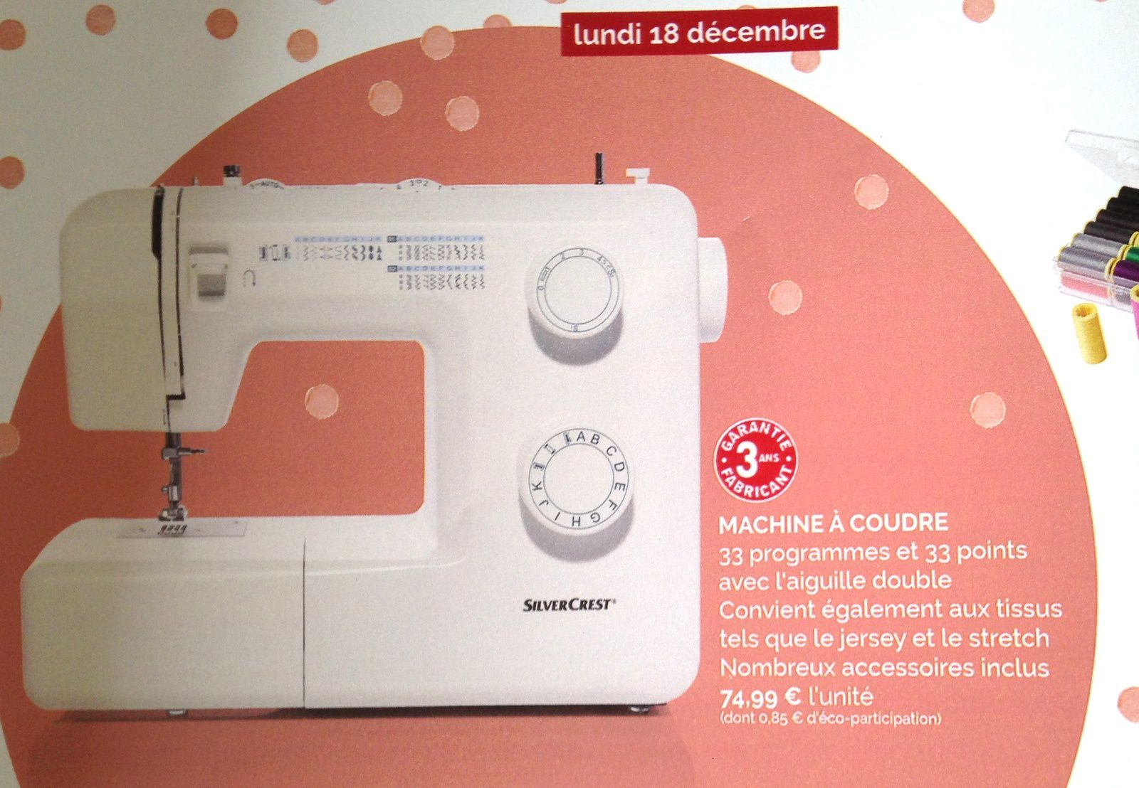 #machineàcoudre  #silvercrest #lidl #33points #charlotteblabla blog