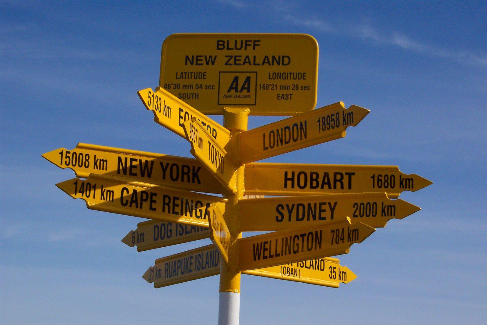 #bluff #zelande #nz #voyage #panneau #charlotteblabla blog