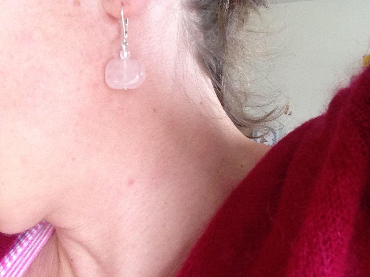 #boucled'oreille #pierre #rose #charlotteblabla blog