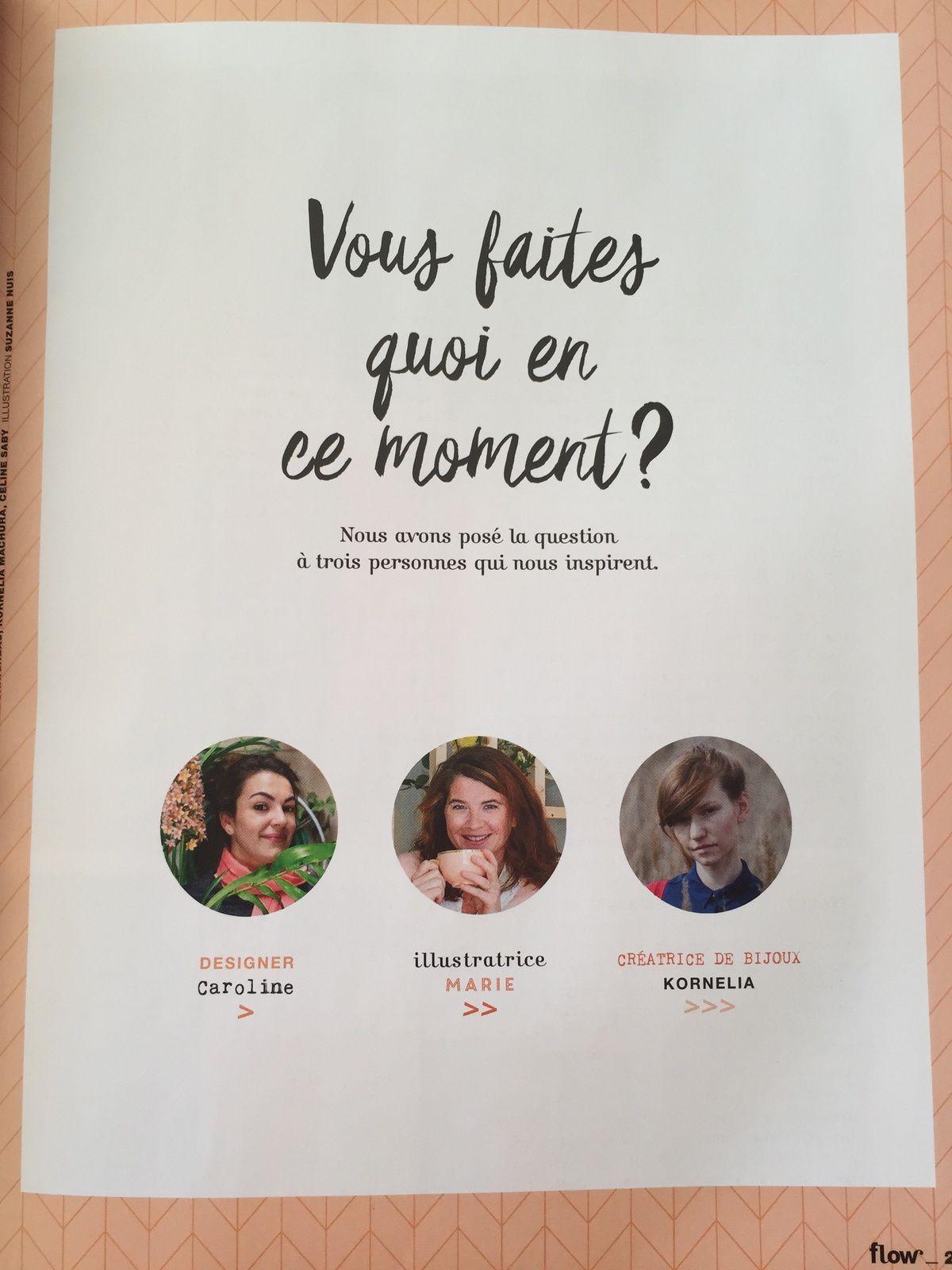 #Flow #magazine N°31 Fevrier mars 2019  #sommaire #cadeaux #charotteblabla blog