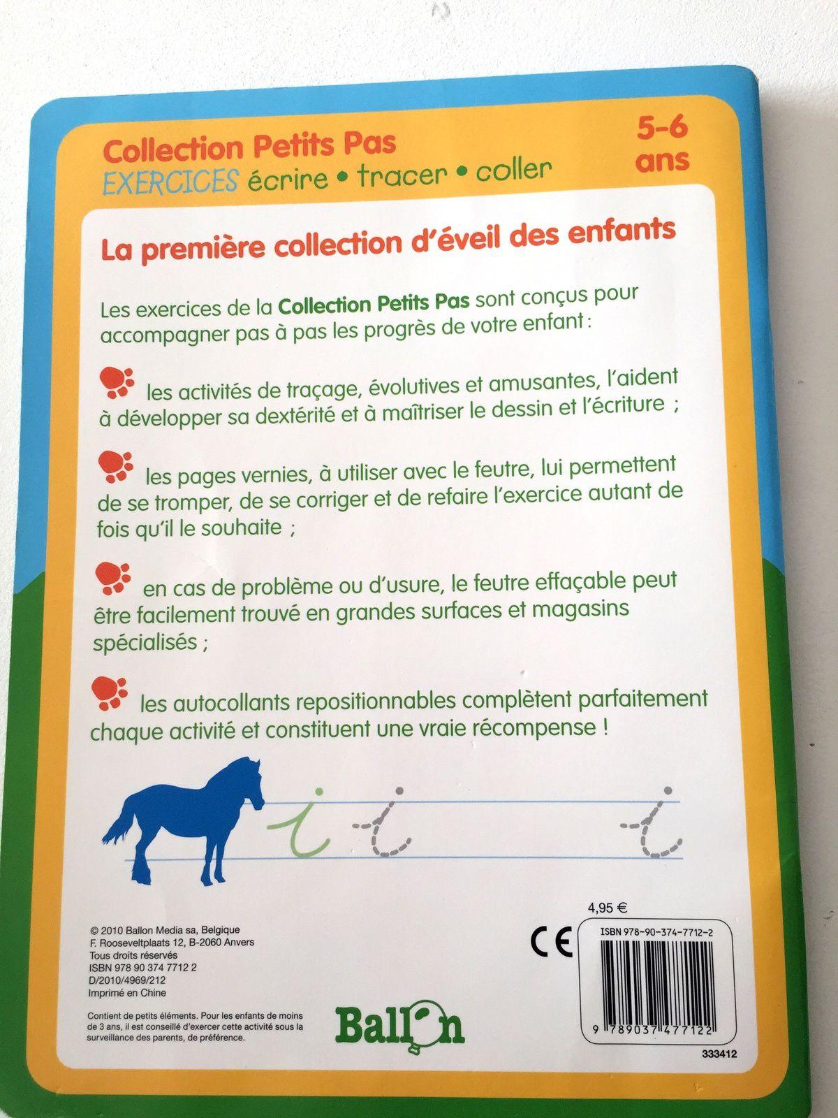 cahier d'#exercices d#'apprentissage #maternelle #graphisme #edition ballon #petitspas sur #charlotteblabla blog