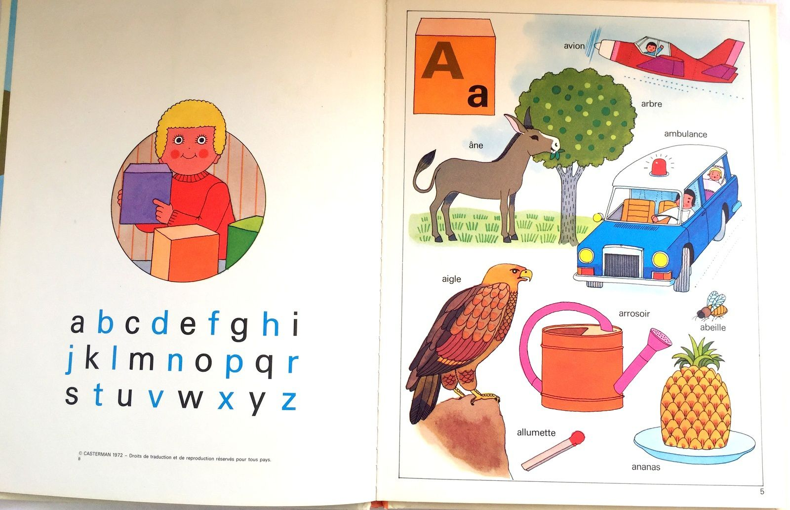fameuse collection Farandole, édition Casterman 1972 mon premier alphabet , de Gérard et Alain Grée, sur charlotteblablablog