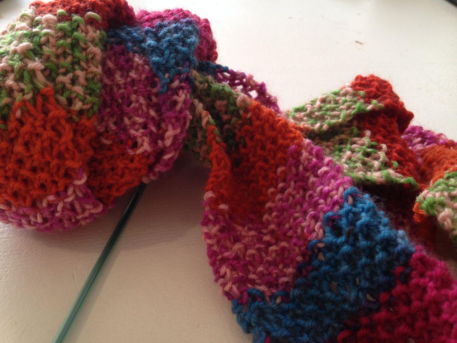 Echarpe  charlotteblabla multicolore laine mérinos cachemire sur charlotteblablablog