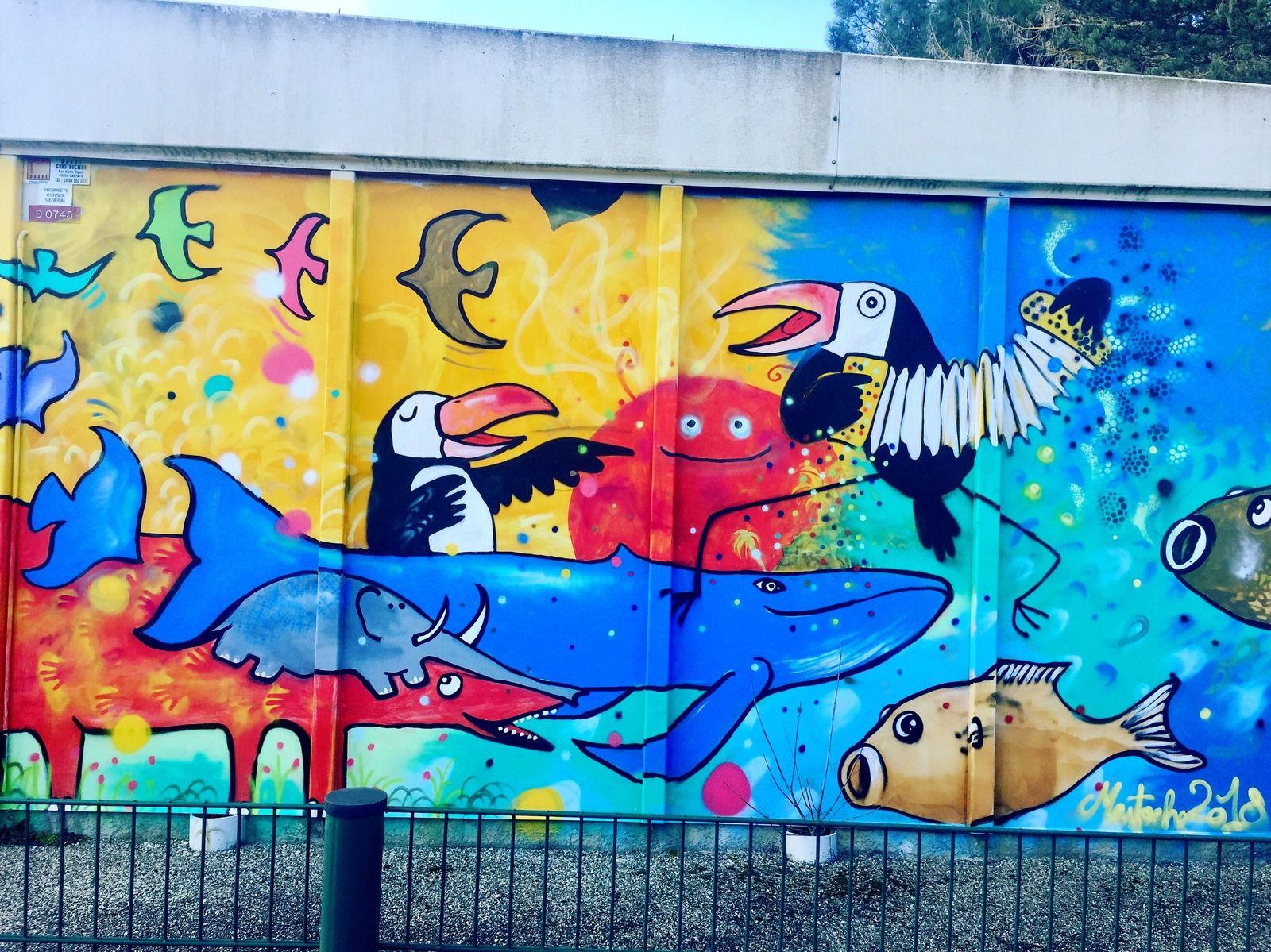 street art animaux colorés à pechbonieu 31  sur charlotteblabla blog