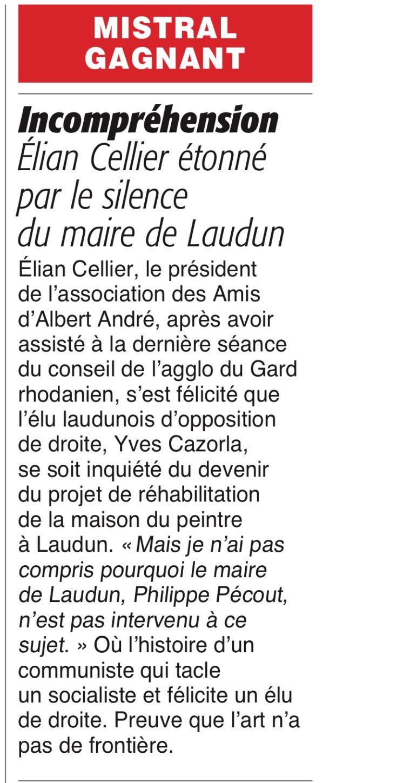 Maison Albert-André : Article ML du 20/10/2016