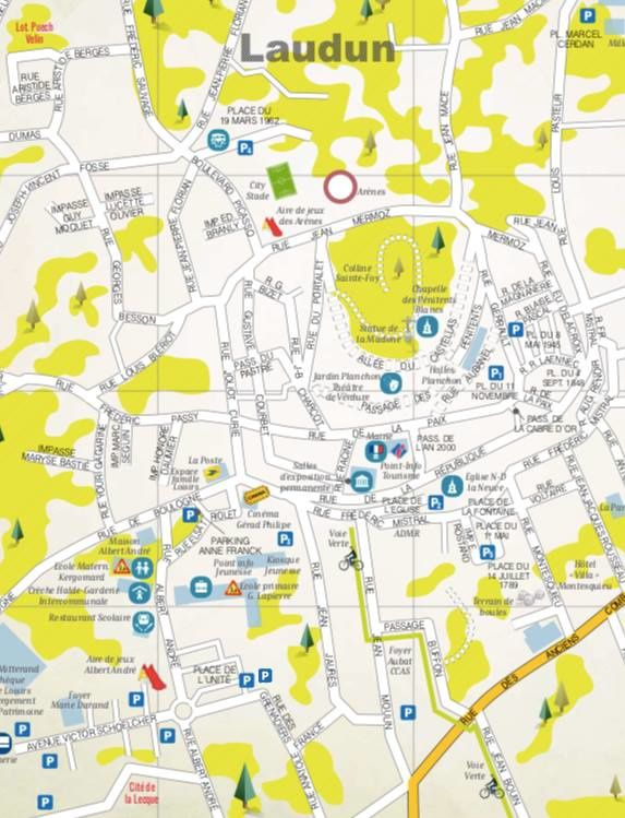 Plan de stationnement pour la féria des vins de Laudun