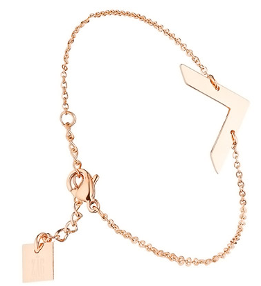 bracelet zag bijoux or rose - linea chic