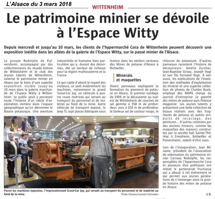 Exposition dans l'Espace Witty - Cora Wittenheim