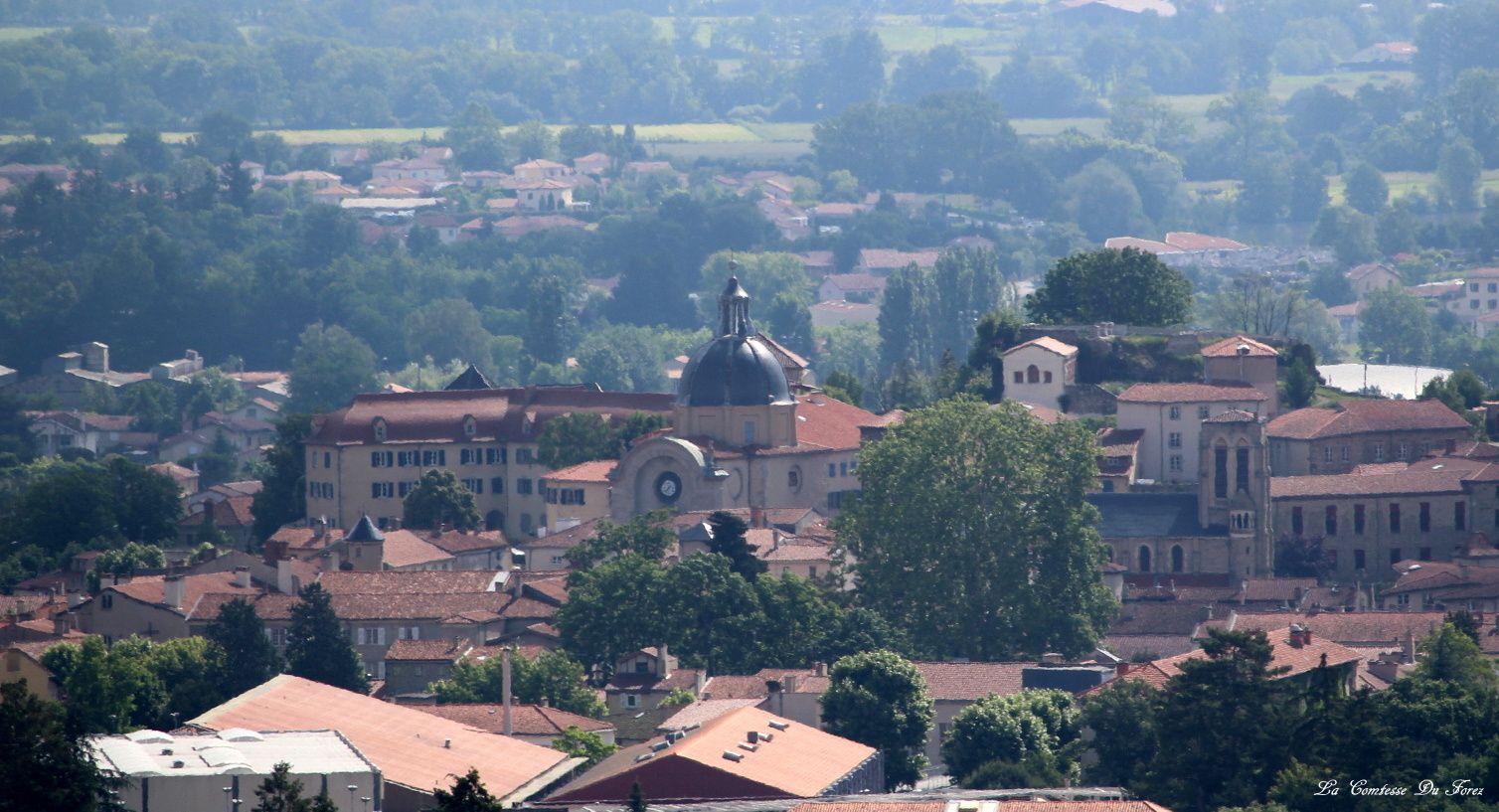 Balade au-dessus de Montbrison à Vinols (Loire, 42600)