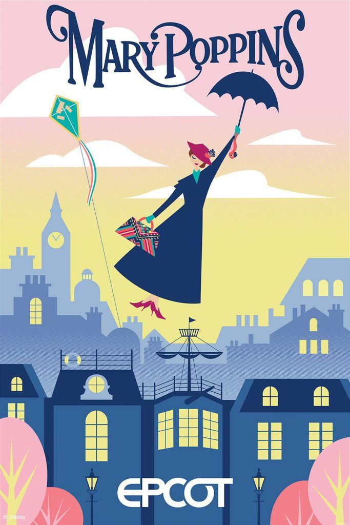 Attraction inspirée par Mary Poppins © Disney