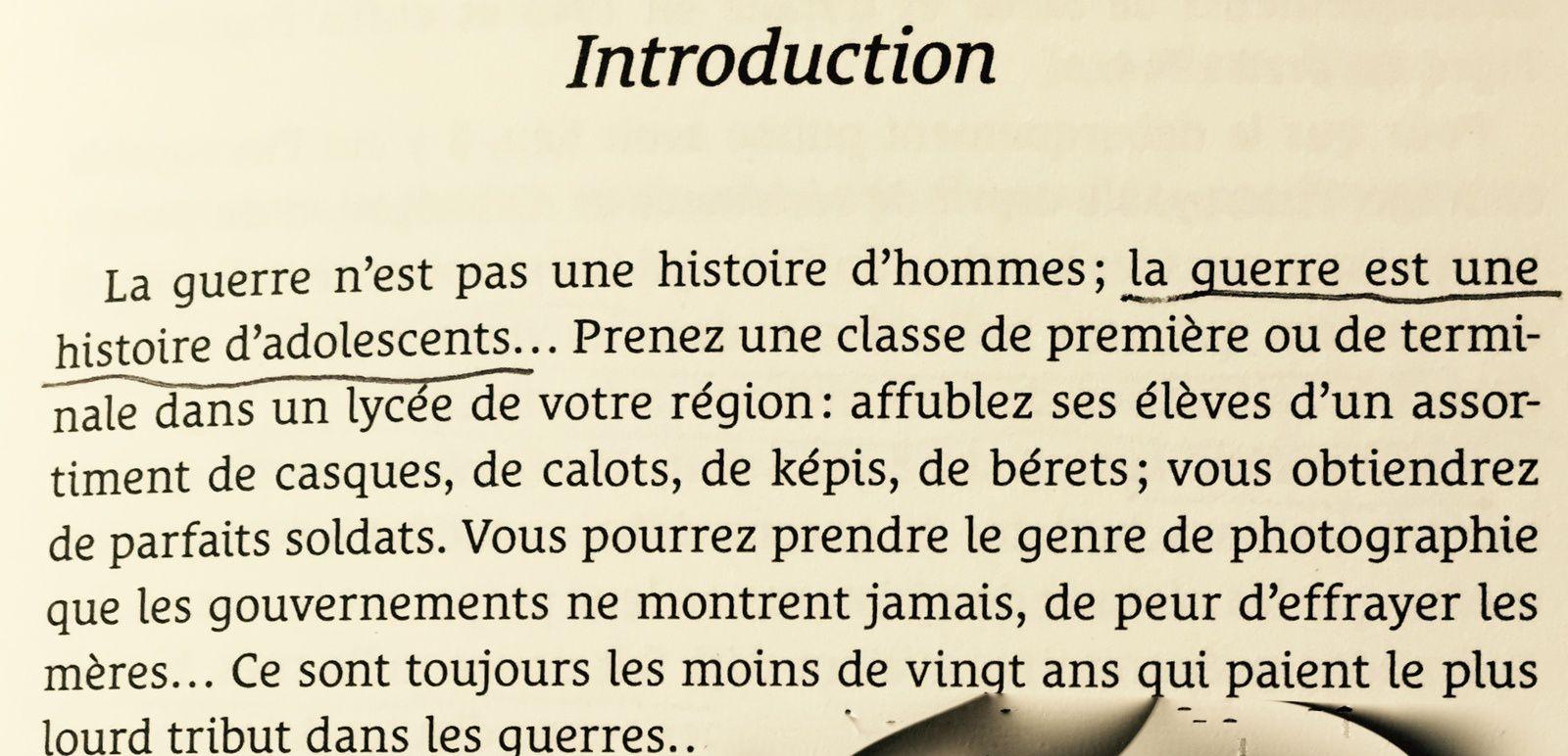 extraite de l'introduction de Paroles du jour J -JP Guéno - Librio