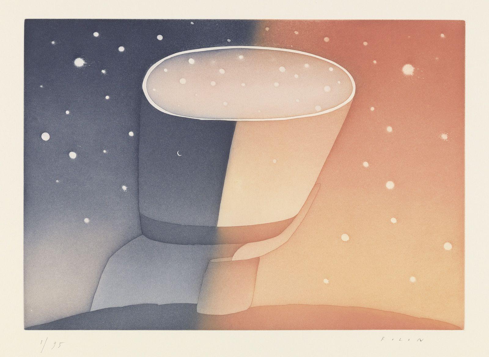 A propos du jour et de la nuit, 1989-90 © Fondation Folon