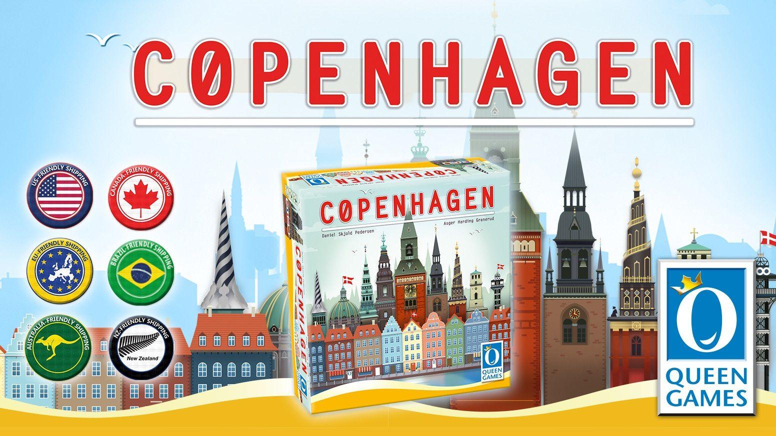 """[Image tirée du site Kickstarter] : """"Copenhagen"""", un croisement entre """"Les Aventuriers du Rail"""" et """"Patchwork"""", que j'ai hâte de tester, d'autant qu'il va arriver en mai prochain si tout va bien..."""