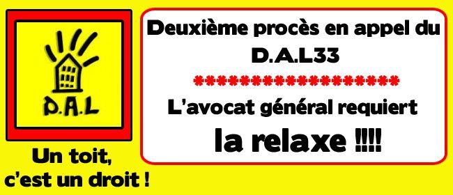 [Procès du D.A.L33] La relaxe requise