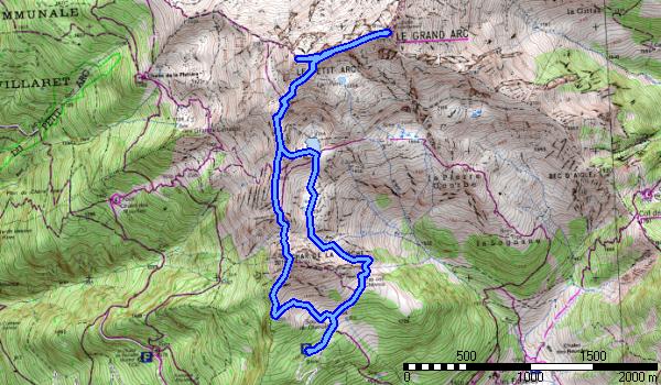 LE GRAND ARC  depuis Chenalet , Montsapey avec La-Haut Rando.