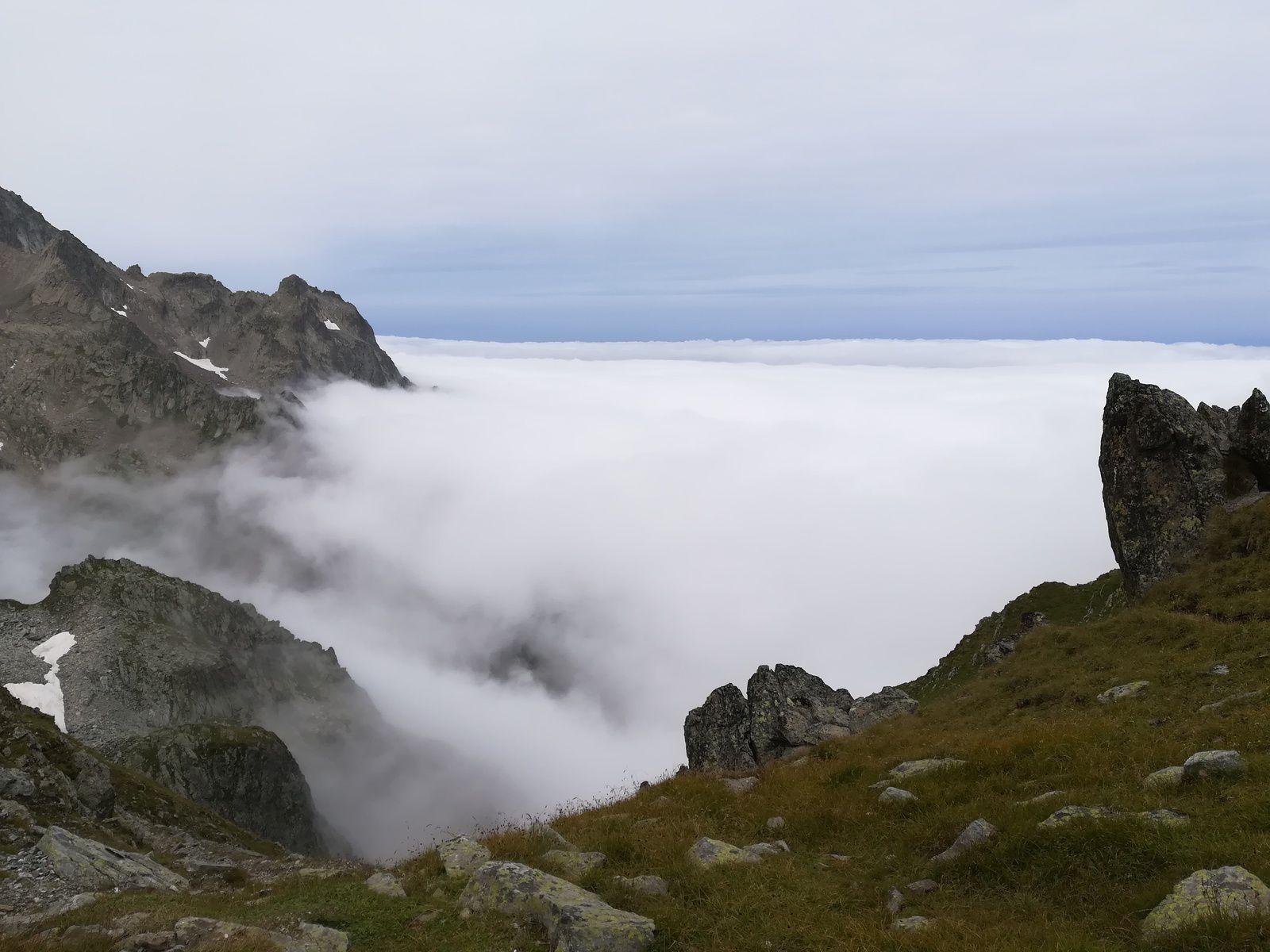 Lac et col de la Croix ,La-Haut Rando, col du Glandon Belledonne Nord
