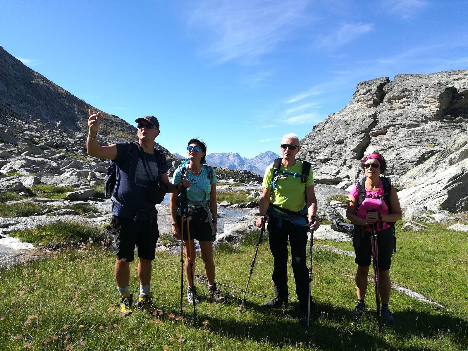 Premier plateau atteint après une bonne grimpette le long du ruisseau de Povaret.
