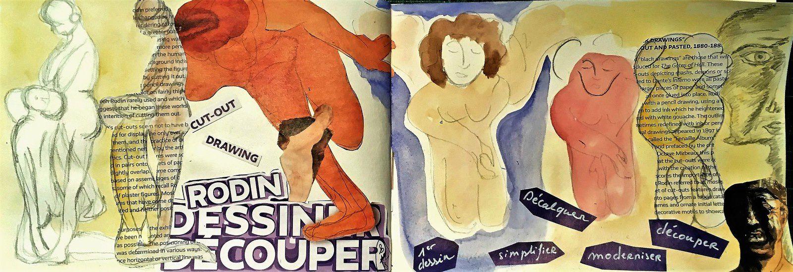 Rodin, dessiner , couper