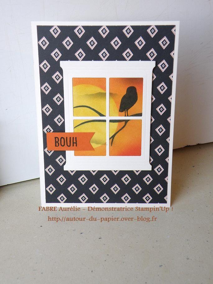 Duo Pochette Squelette Et carte Hibou