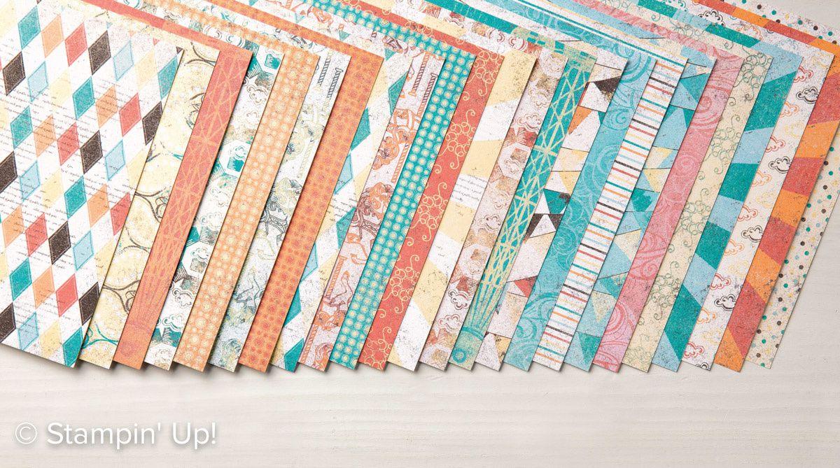 Bloc de papier Gâteaux et Manèges :  Baie des Bermudes, Corail Calypso, Couleur Café, Pêche fraîche, Tellement safran, Très Vanille