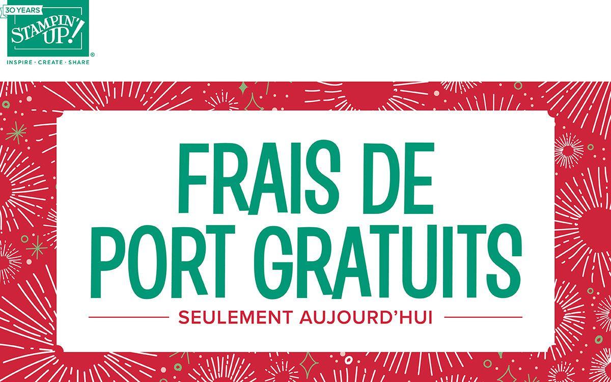 Frais de port Gratuits !