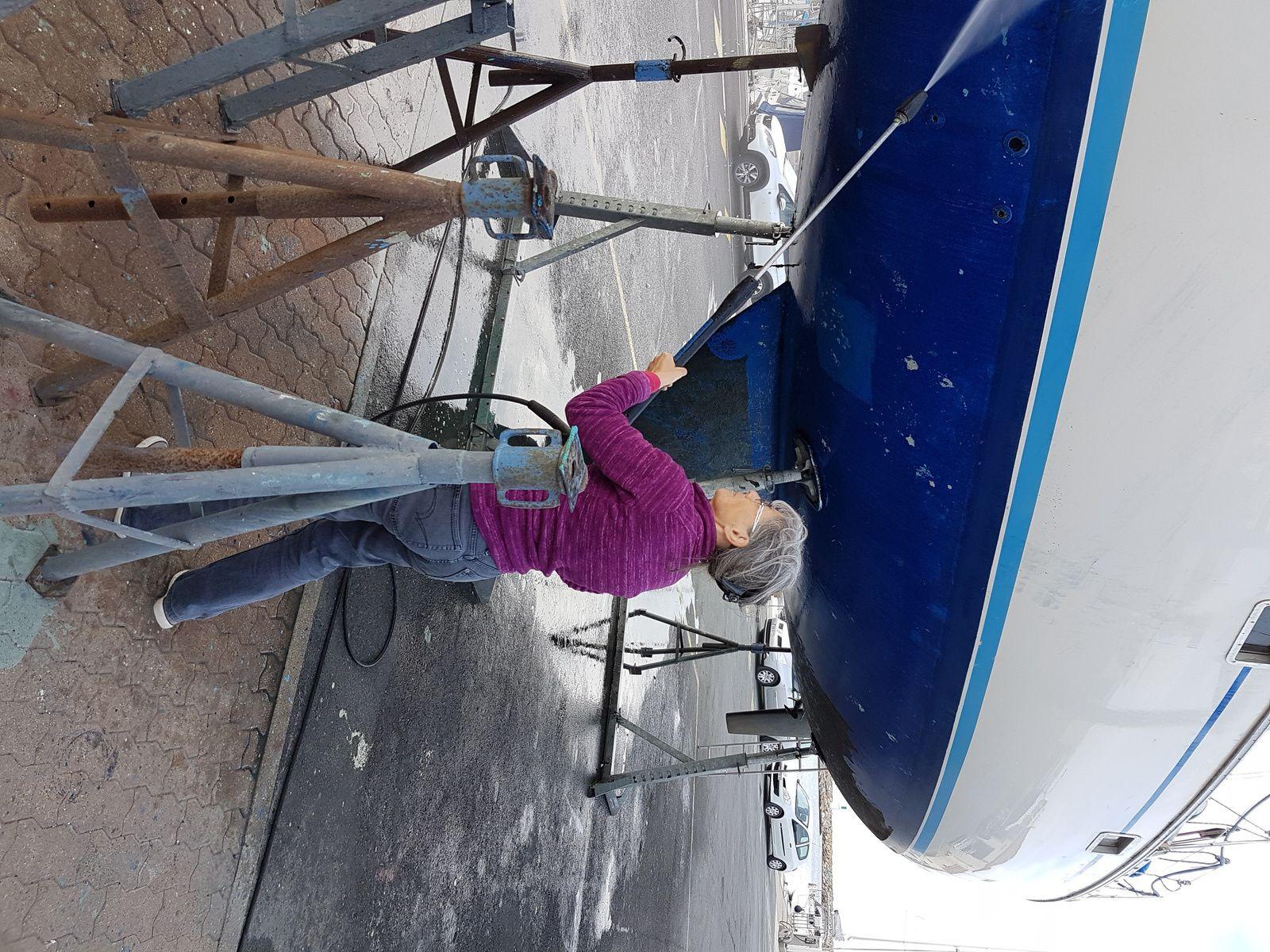 Gwendal tout propre après son nettoyage à haute pression
