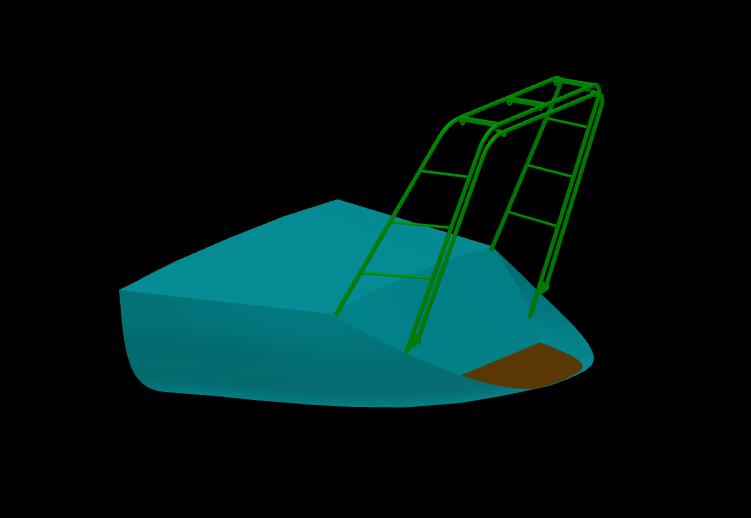 image 3 D avvec le bossoir refermé