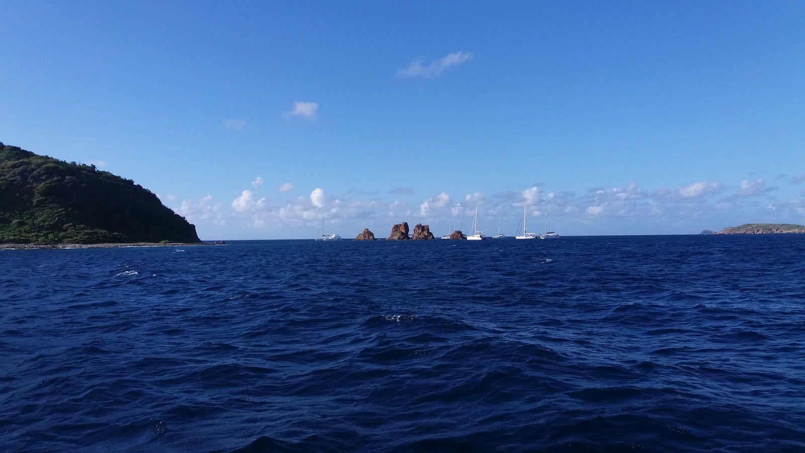 Mouillages forains aux îles Vierges