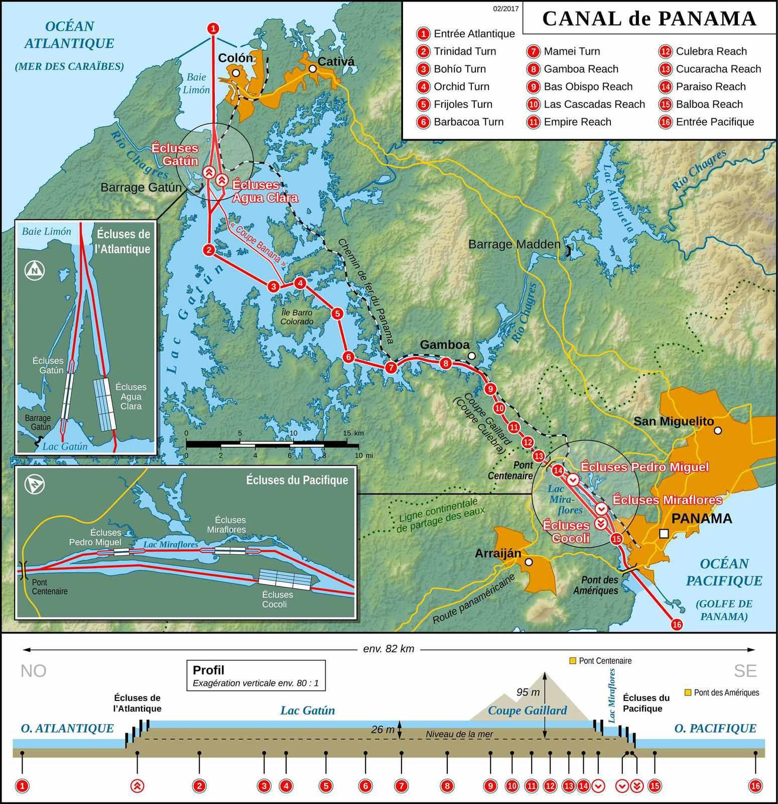 Canal de Panama- crédit Wikipedia