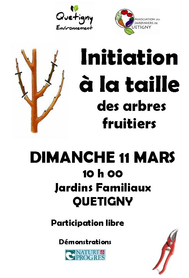 Initiation à la Taille des arbres fruitiers, c'est demain 11 Mars !!