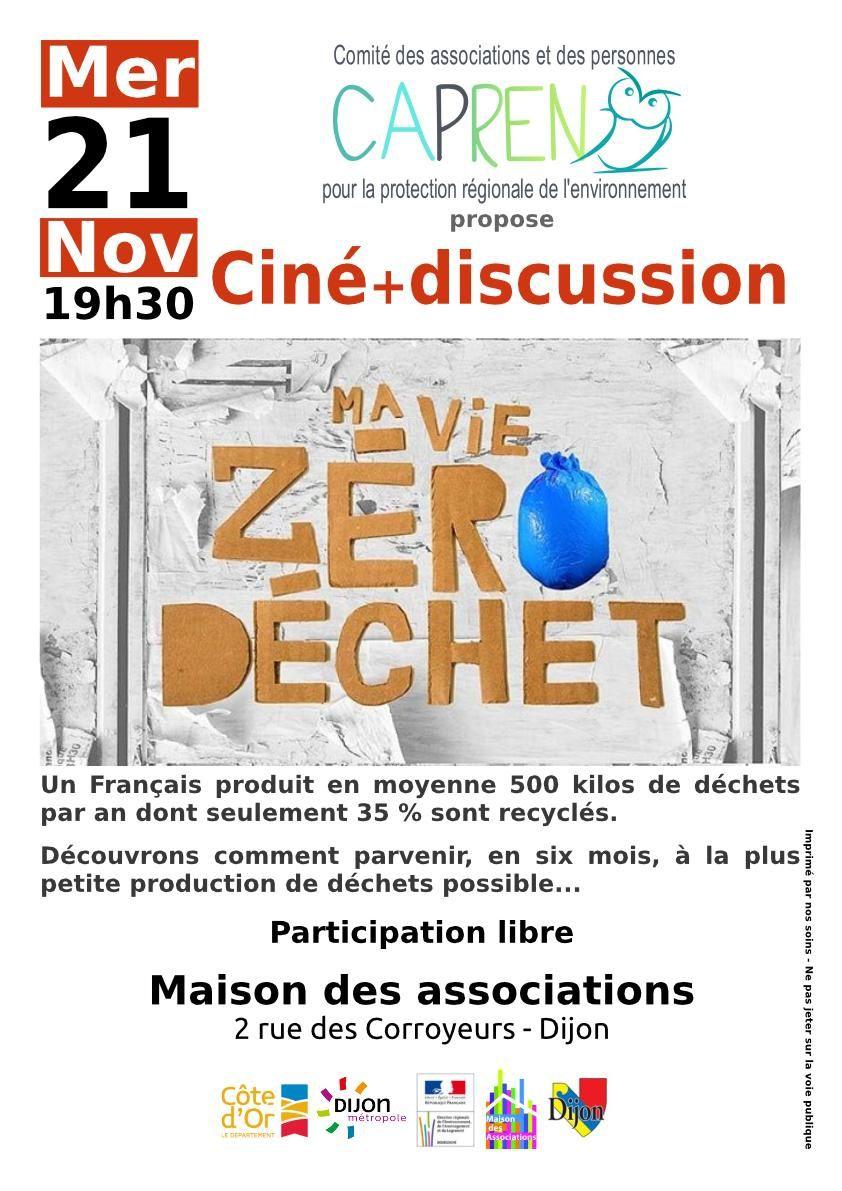 Semaine Européenne de la réduction des déchets : Ciné débat avec le CAPREN