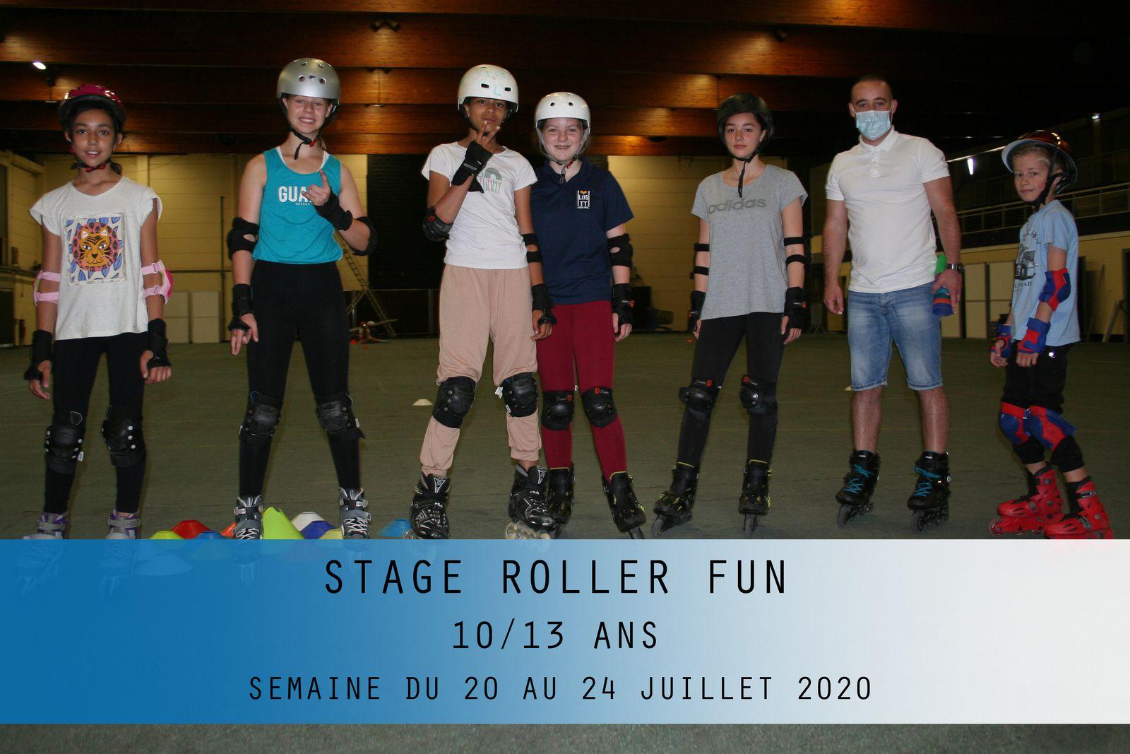 STAGE ROLLER FUN-10/13 ANS-SEMAINE DU 20 AU 24 JUILLET 2020