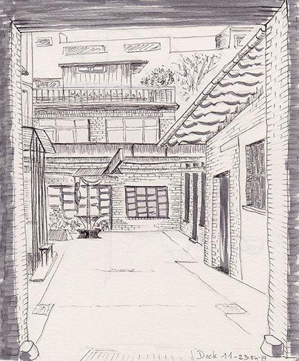 Dock 11 - KastanienAllee - Feutre 0,1 et crayon graphite