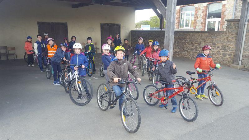 CE2-CM1 1er entrainement vélo